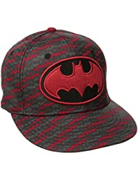 DC Comics Batman Bat Logo Screen Print Snapback Baseball Cap