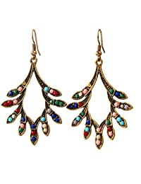 IGP Casual Multi Color Stone Studded Fashion Earrings For Women And Girls