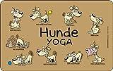 Hunde Yoga Frühstücks Brettchen Fun Spaß NEU 23x14cm VRB7307
