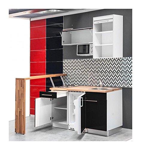 ... Mebasa MCFT140BS Küche, Hochwertige Einbauküche, Moderne Miniküche,  Design Singleküche, Küche 174 Cm ...
