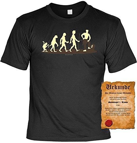 Witziges Spaß-Shirt + gratis Fun-Urkunde: Homo Stupidus Autoschrauber Schwarz