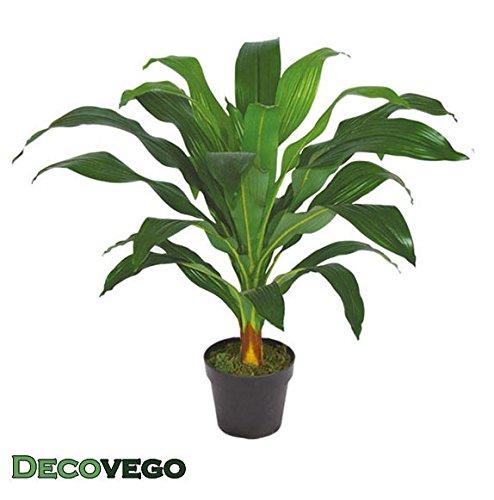 Decovego Drachenbaum Kunstpflanze Künstliche Pflanze mit Topf 90cm