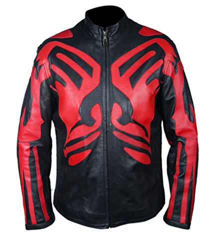 Leatherly Giacca Uomo Star Wars Darth Maul Pelle Giacca- 3XL