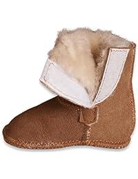 Nordvek - Boots pour bébé style Ugg - 100 % peau de mouton - fermeture à scratch - de 0 à 18 mois - # 408-100
