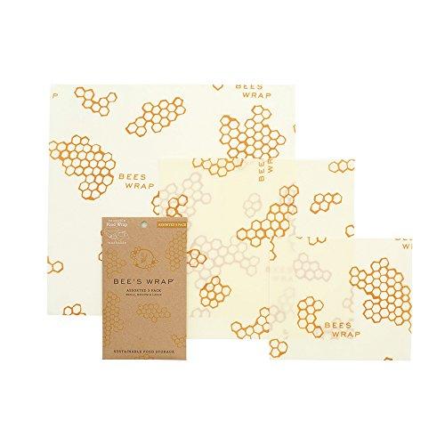 Bee's Wrap Wachspapier, Set mit 3Stück, verschiedene Größen, beige