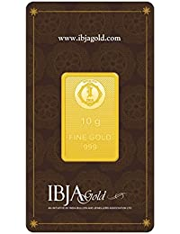 IBJA Gold 24k (999) 10 gm Yellow Gold Bar