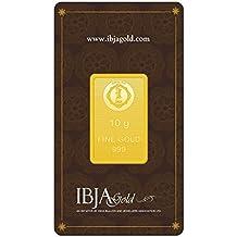 IBJA Gold 10 Gm, 24K (999) Yellow Gold Precious Bar
