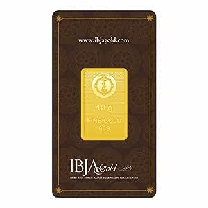 IBJA Gold 24k (999) 10 gm Yellow Gold Bar
