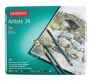 Derwent Artists Matite Colorate in Scatola di Metallo (Confezione da 24)