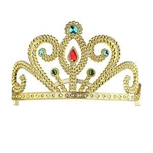 WIDMANN Tiara de oro con gemas infantil Cualquier día