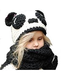 b6726cac0a34 Fancyland Bonnet de Laine Tricote Renard Ensemble Bonnet Echarpe Hiver pour  Enfant Unisexe pour 1-
