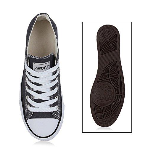 Damen Herren Kinder Unisex Schuhe Sneaker low Top Schnürschuh Halbhoch Dunkelgrau