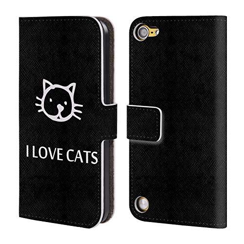 Head Case Designs Offizielle Catspaws Ich Liebe Katzen Tiere Leder Brieftaschen Huelle kompatibel mit Touch 5th Gen/Touch 6th Gen 16 Gb Ipod Touch