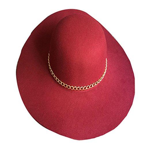 Version Coréenne Des Dames De Laine Arbodôme Rétro Ombre Hat Red1