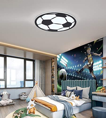 WANG-LIGHT Fußball Kreative LED Deckenlampe Kinderzimmer Cartoon Deckenleuchte Energie Sparen Deckenlampe für Jungen und Mädchen,Tricolorlight,50cm