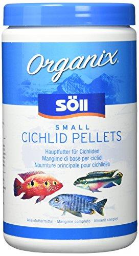 Söll 16192 Organix Small Cichlid Pellets - Aquariumfutter - Zierfischfutter für Barsche - 1 l -