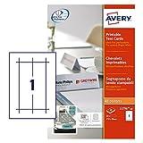 Avery L4796-20 Bedruckbare Tischkarten, 20 Blatt