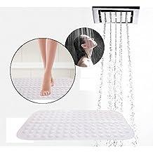 HooYL Alfombra de baño antideslizante suave Alfombra de ducha de bañera antibacterial PVC (blanco)