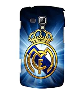 Crown, Blue, Sports Crown, Printed Designer Back Case Cover for Samsung Galaxy S Duos S7562