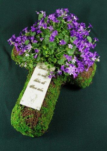 Pot pour plantes comme Tableau Croix avec inscription