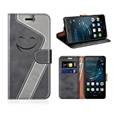 MOBESV Smiley Portefeuille Huawei P9 Lite, Coque Cuir Huawei P9 Lite Magnétique...