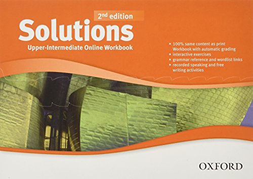 Solutions: Upper-Intermediate: Online Workbook - Card with Access Code