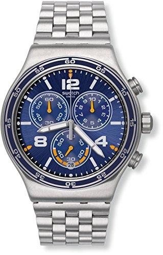 Swatch Orologio da Uomo Cronografo al Quarzo con Cinturino in Acciaio Inox – YVS430G