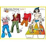 Colección Fantasy Love. Recortables. Recortar y vestir personajes: para payasos, deportistas, vestidos de noche, de fiesta, skate, love, etc.