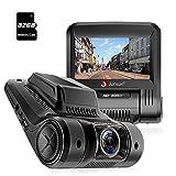 Junsun Caméra de Voiture WiFi Caméra Embarquée Full HD 1080P 170°Grand-angle 2.45 Pouces LCD DVR, WDR, Capteur G, Carte SD 32GB incluse