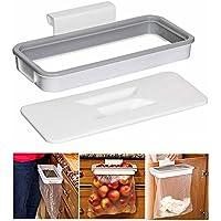 KOBWA Attach-A-Trash - Soporte para Bolsas de Basura con Tapa, para Colgar Basura o Armario de Cocina, Basura y Basura