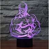 3D Acryl Nachtlicht Bodybuilding 3D Führte Nachtlicht Führte Bunte Acryllichter Hologramm-Kindertischlampe-Atmosphäre Usb Geführte Helle Lampe Canon-Licht