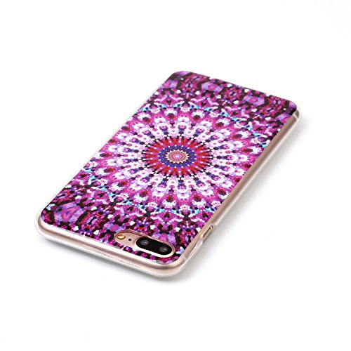 iPhone 7 PLUS Hülle, Cozy Hut ® [Liquid Crystal] [Ultra Dünn] Bumper-Style Premium-TPU / Sehr Leicht / Perfekte Passform / Durchsichtiges Soft-Case Schutzhülle für Apple iPhone 7 PLUS (5.5 zoll), Appl Kaleidoskop