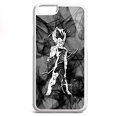 Smartcover Case Vegeta Flash z.B. für Iphone 5 / 5S, Iphone 6 / 6S, Samsung S6 und S6 EDGE mit griffigem Gummirand und coolem Print, Smartphone Hülle:Iphone 6 / 6S schwarz Iphone 6 / 6S weiss
