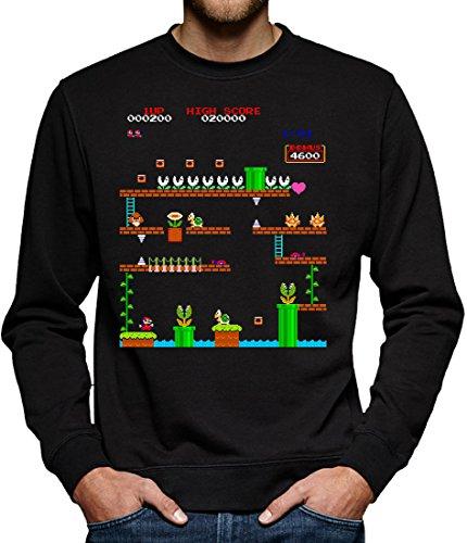 Sweatshirt Pullover Herren XXXL Schwarz (Dragon Ball Z Son Gohan Kostüm)
