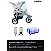 Lumaland mosquitero universal de cochecito para carrito de niños con elástico en diferentes colores