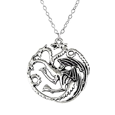 Collier Sautoir Pendentif Dragon de Daenerys Targaryen