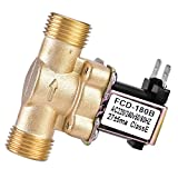 """Electrovalvula 220V Agua, 1/2"""" AC Válvula Solenoide de Latón, Normalmente Cerrada, Sin Consumo de Energía, Anticorrosiva, para Ajuste de Agua"""