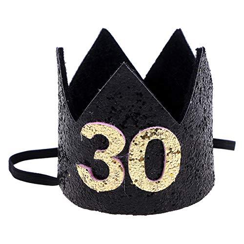 Amosfun Corona Cumpleaños 30 Años Sombrero Disfraz