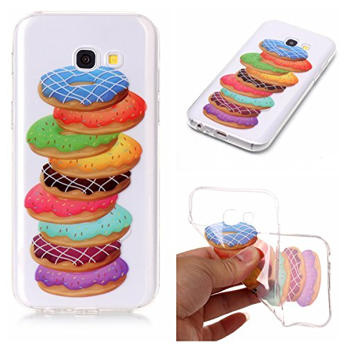 Preisvergleich Produktbild Galaxy A3 2017 Hülle, Anlike Samsung Galaxy A3 2017 Handy Hülle [Bunte Muster Design] Schutzhülle - Donuts
