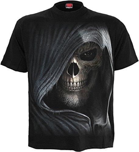 Espiral–Hombres–Oscuridad–Camiseta Negro negro negro M