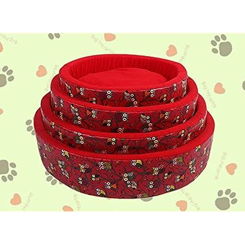 Rojo para mascotas PET Kennel impresión y fácil de limpiar , XL