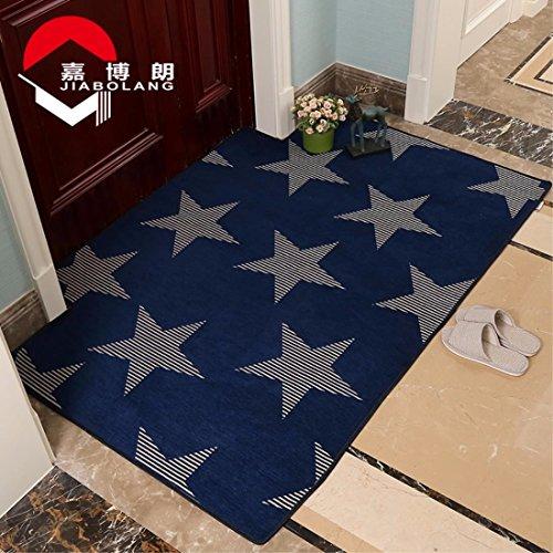 LIUXINDA-DT 50 x 80 cm/60 * 90cm einfachen haushalt teppich/absorbierenden teppich/antiskid teppich/eingang teppich/wc fußabtreter,50 x 80 cm,blau