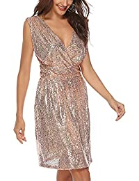 Amazon.it  Elegante con Paillettes - Rosa   Vestiti   Donna ... dc203ac7800