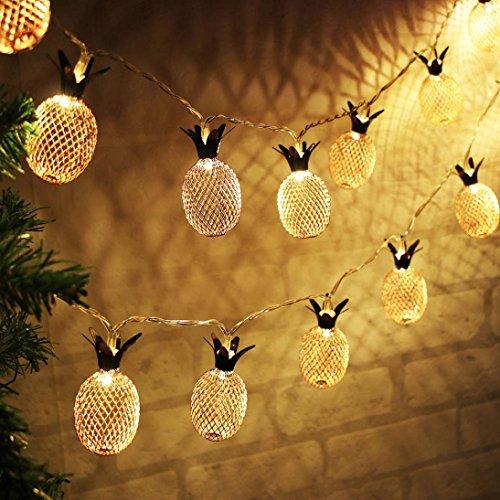 TAOtTAO Vorhang Ananas leuchtet String House Party Decor mit 20 LED-Perlen auffällig
