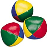Set of 3 Circus Clown Coloured Juggling Balls Learn to Juggle Toy Game