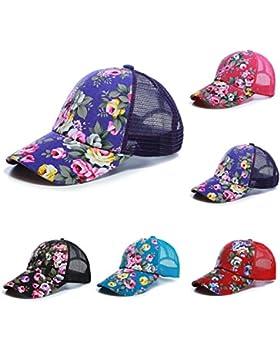 Moda Mujer Snapback Hat gorra de béisbol de florales ajustable Bboy hip hop Cap