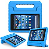Moko Fire 7 2015 Funda - Material EVA Lightweight Kids Shock Proof Protector Cover Case con Manija para los niños (5th Generation - 2015 Release Only), Azul