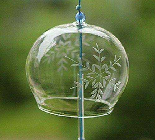 spiel Wind Glocken Handgefertigt Glas Geburtstag Geschenk Terrasse und Garten Home Decors Wind Chimes japanischen Stil, (Schneeflocke) (Günstige Schneeflocke Dekorationen)