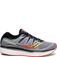Saucony Men's Triumph ISO 5 Running Shoe, Grey/Black, 14 W US