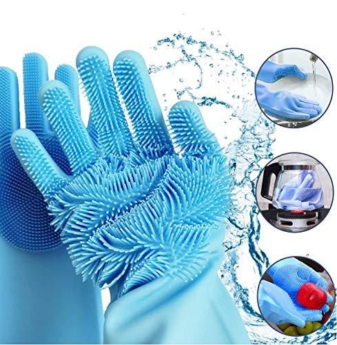 Silikon Geschirrspülhandschuhe Magic Hitzebeständig Wiederverwendbar Silikonhandschuhe Reinigungsbürste Haushalt Küche Reinigung